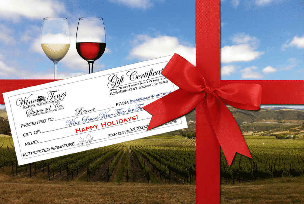 Wine Tour gift certificates make great holiday gifts,